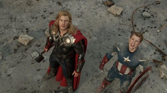 thor cap america 570x320 Thor and Captain America in The Avengers