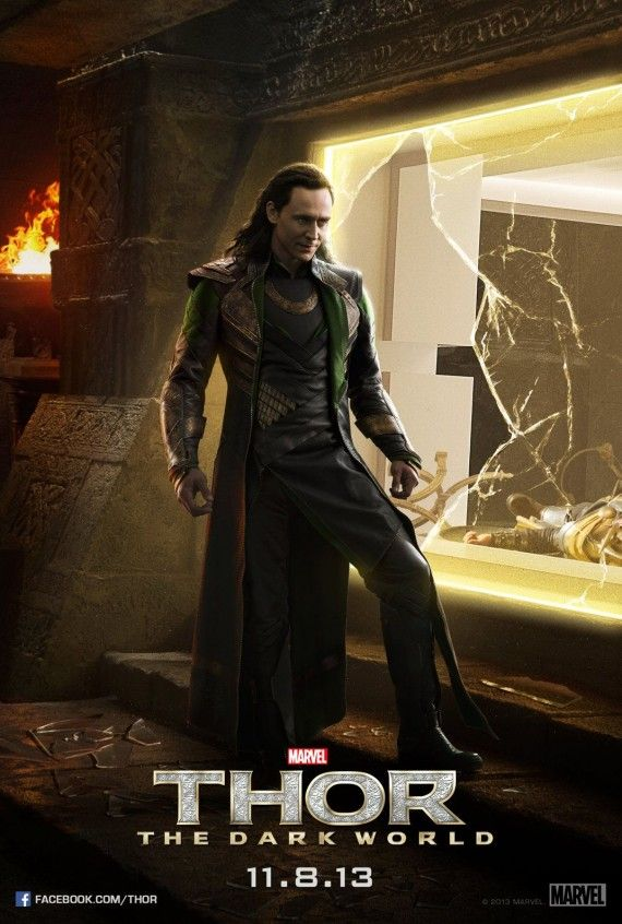 thor dark world loki esapes poster 570x846 Thor: The Dark World Poster with Loki