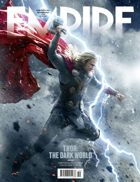 thor dark world magazine cover 570x739 Thor: The Dark World Magazine Cover #1