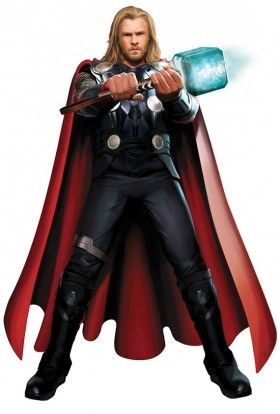 thor movie costume artwork 280x414 Chris Hemsworths Thor in Full Costume With Mjolnir
