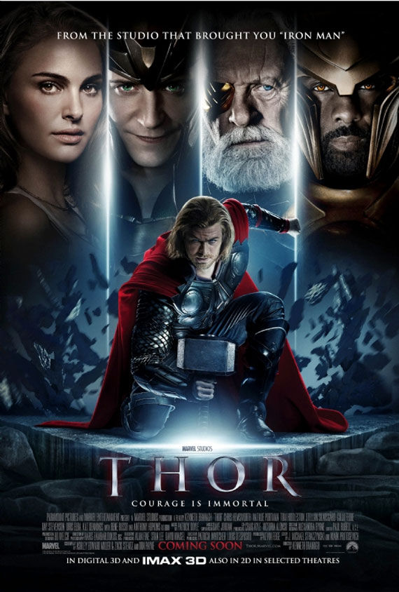thor movie poster 1 Movie Poster Roundup: Thor, Pirates of the Caribbean 4, Your Highness & More