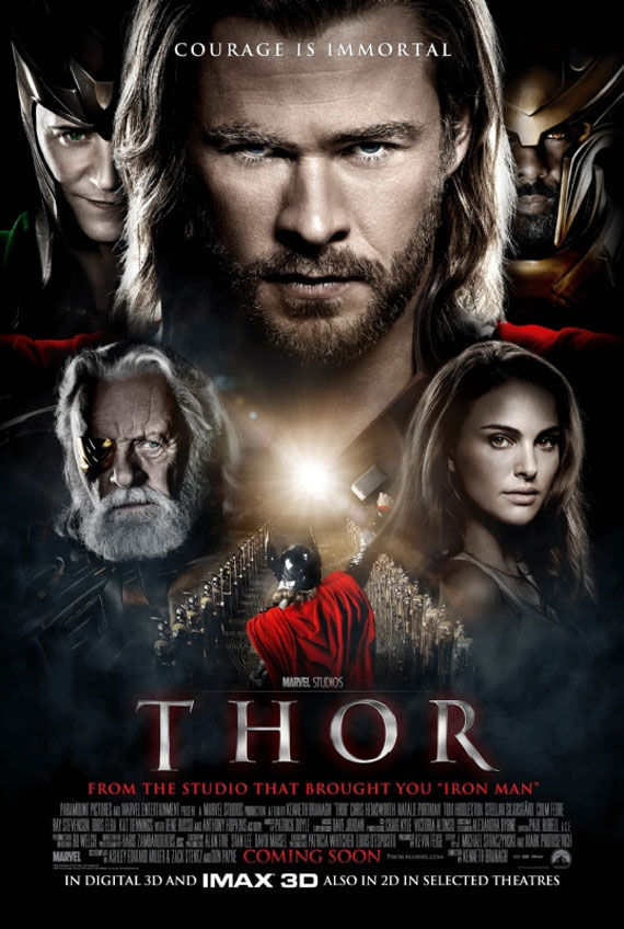 thor movie poster 2 Movie Poster Roundup: Thor, Pirates of the Caribbean 4, Your Highness & More