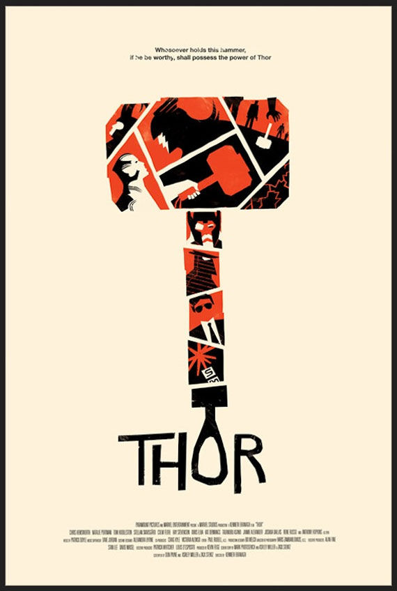 thor special poster Movie Poster Roundup: Paul, Thor, Hobo with a Shotgun, and More