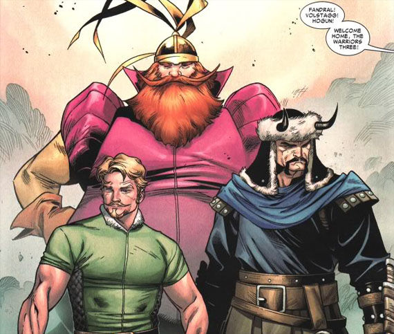 thor warriors three fandral Thors Warriors Three Confirmed