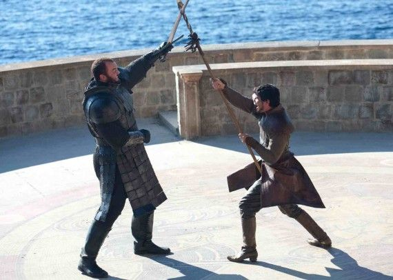 thrones2 570x406 Game of Thrones Photos: Oberyn vs. The Mountain