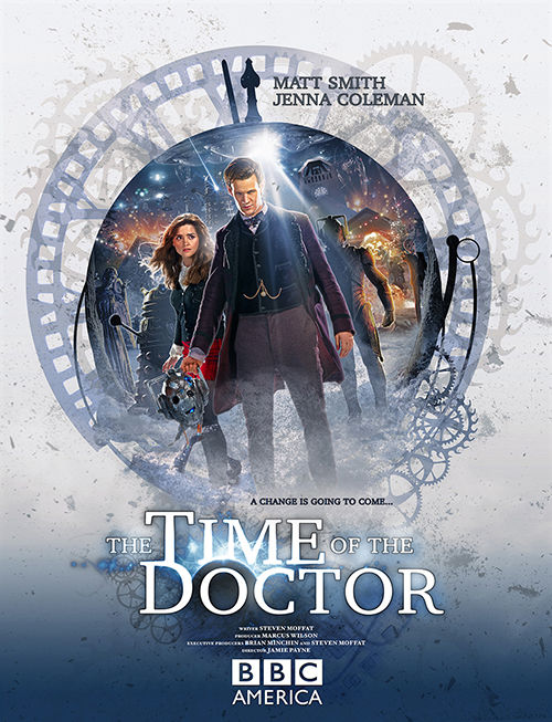 time of the doctor poster Doctor Who Christmas Special Poster & Sneak Peek Images