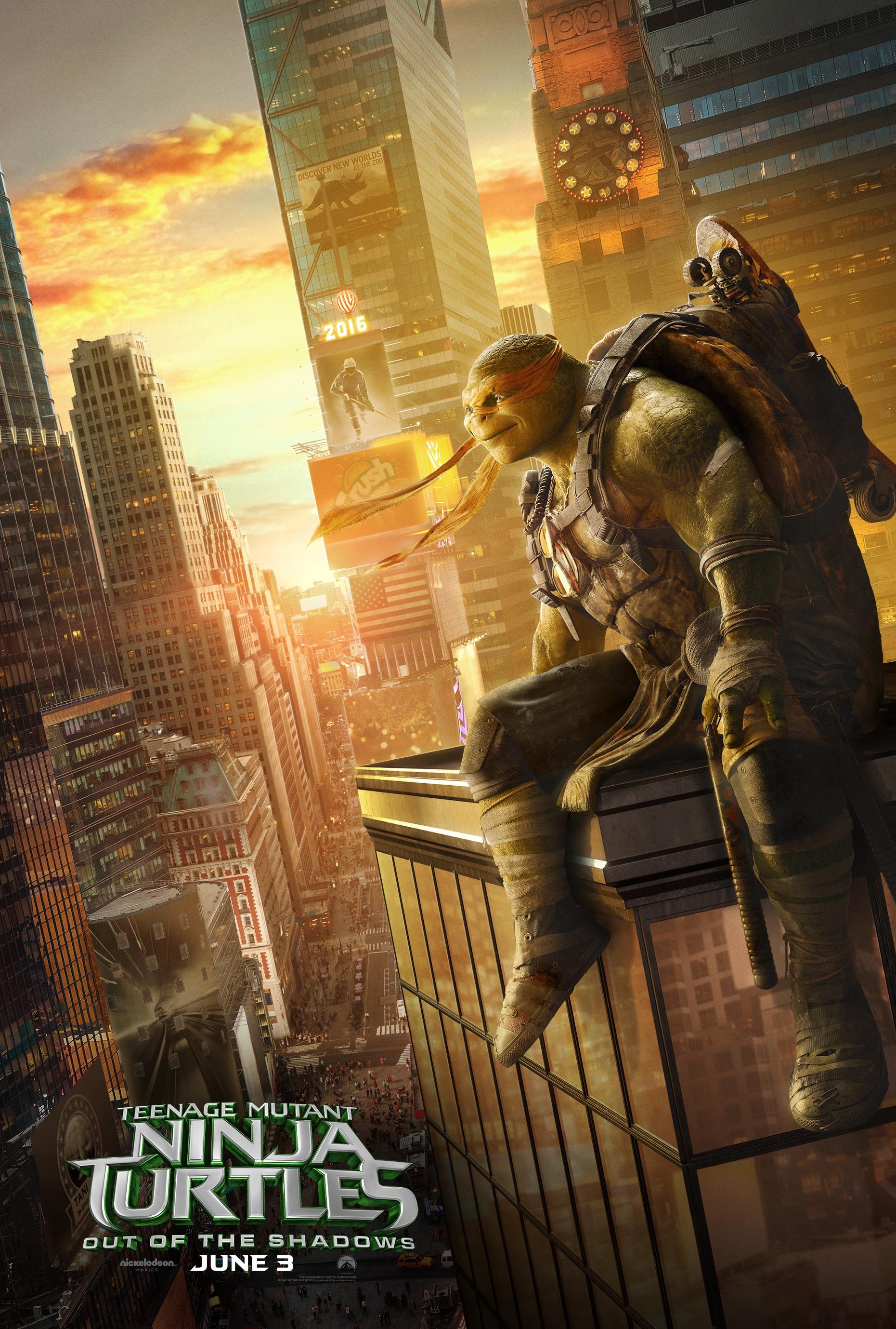 TMNT 2 Character Posters: Watchful Guardians in a Half-Shell