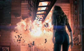 total recall trailer kate beckinsale explosion 280x170 Total Recall Trailer: Colin Farrells A Futuristic Super Spy On the Run