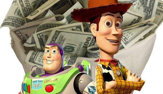 toy story 3 woody buzz money Toy Story 3 Joins the Elite Billion Dollar Box Office Club