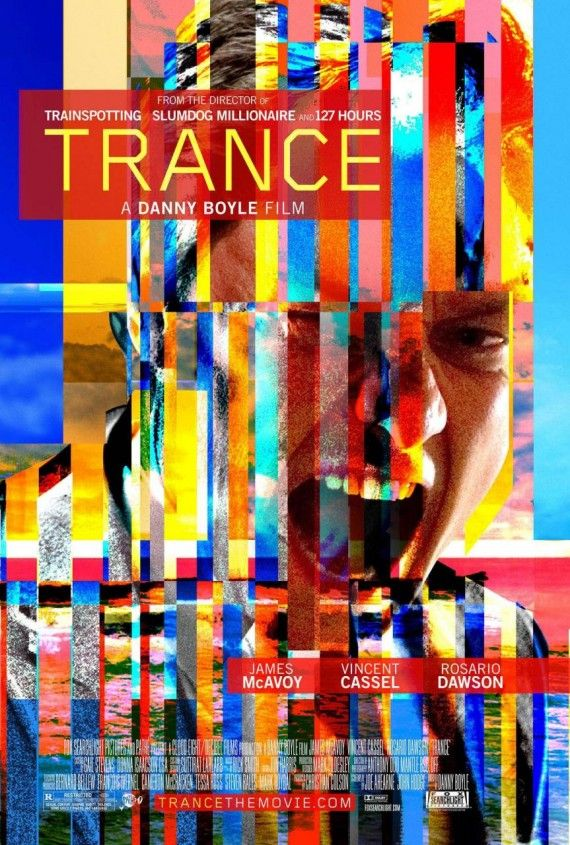 trance poster 570x845 Trance Red Band Trailer Takes Your Inside the Mind of James McAvoy
