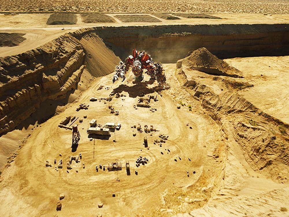 Transformers 2 Devastator desert scene
