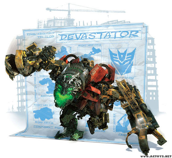 transformers 2 devastator1 Revealed!: Devastator & The Fallen From Transformers 2