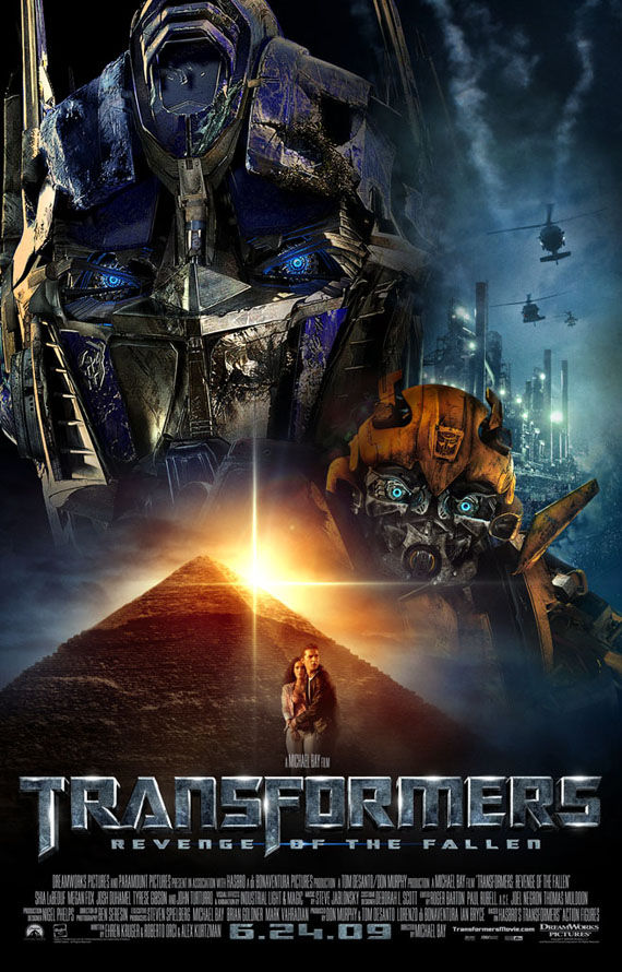 transformers revenge of the fallen final poster New Posters: Inglourious Basterds, Public Enemies, Transformers 2 & More!
