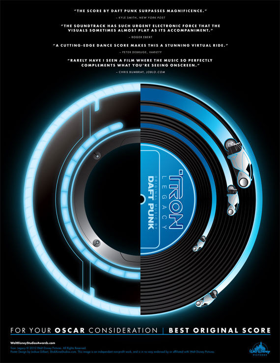 tron legacy daft punk oscar poster Movie Poster Roundup: Paul, Thor, Hobo with a Shotgun, and More