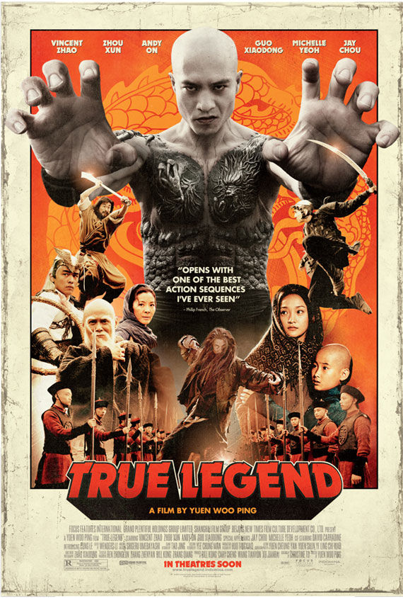 true legend movie poster Movie Poster Roundup: Rubber, Rio, True Legend, Super & More