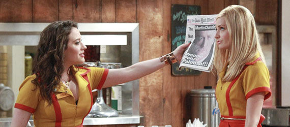 two broke girls cbs Monday TV Ratings: Two And A Half Men Smashes, Playboy Club Crashes