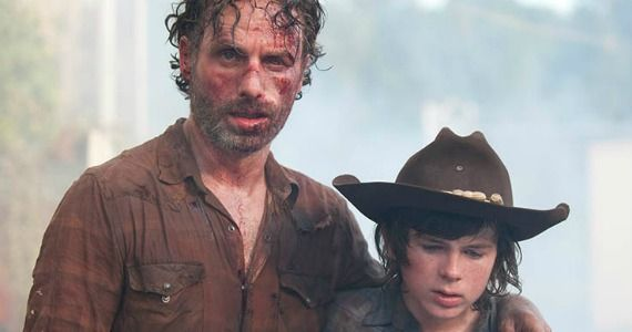 Rick and Carl; The Walking Dead