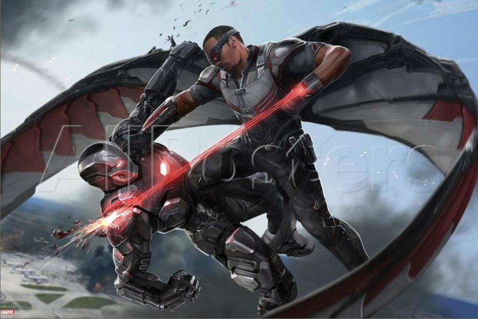 war machine vs falcon