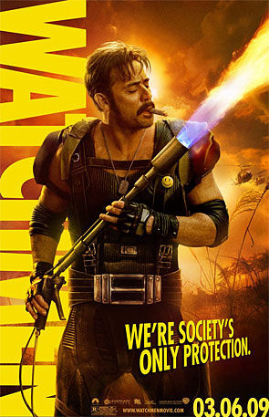 <i>Watchmen</i> movie poster featuring 'The Comedian'