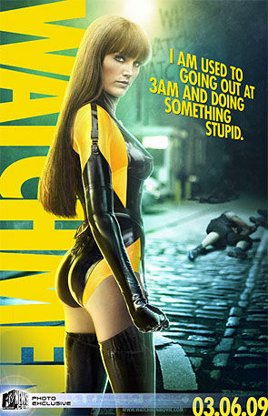 <i>Watchmen</i> movie poster featuring 'Silk Spectre II'