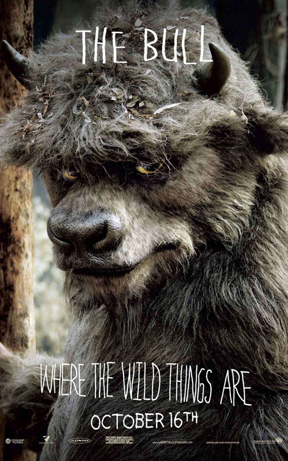 where the wild things are the bull poster Poster Friday: Toy Story 3, Saw VI, A Christmas Carol & Many More!
