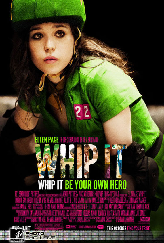 whip it poster ellen page drew barrymore This Weeks Collection of Movie Posters