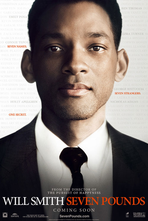 will smith 7 pounds poster Will Smith Stars In 7 Pounds Movie