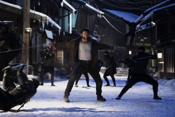 wolverine logan ninjas chain 570x382 Hugh Jackman & Co. Explain Why The Wolverine Doesnt Need To Be Rated R