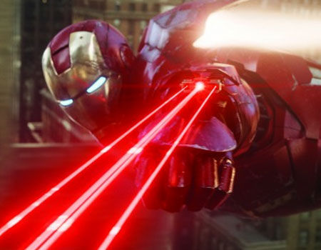 Iron Man with the wrist laser from Iron Man 2