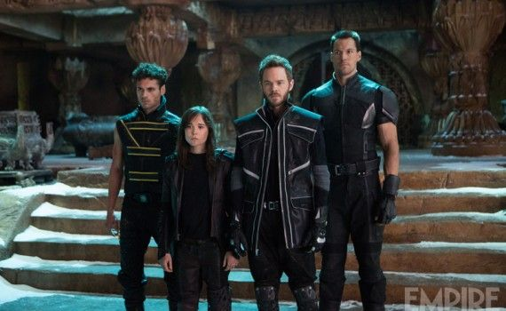 x men days future past kitty pryde iceman 570x350 New X Men: Days of Future Past Images: Past & Present Day Mutants Unite