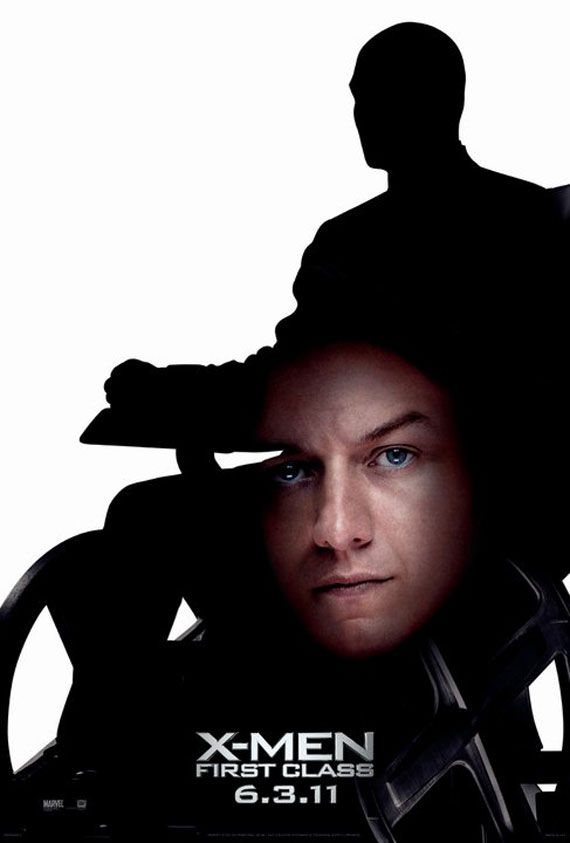 x men first class xavier poster Movie Poster Roundup: Fast Five, Thor, X Men: First Class & More