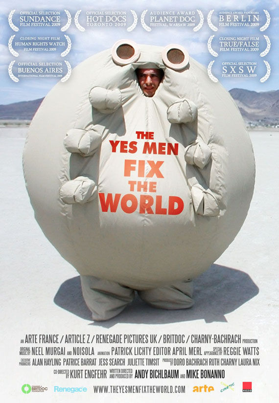 yes men fix the world poster Poster Friday: Moon, Tooth Fairy, Parnassus & More!