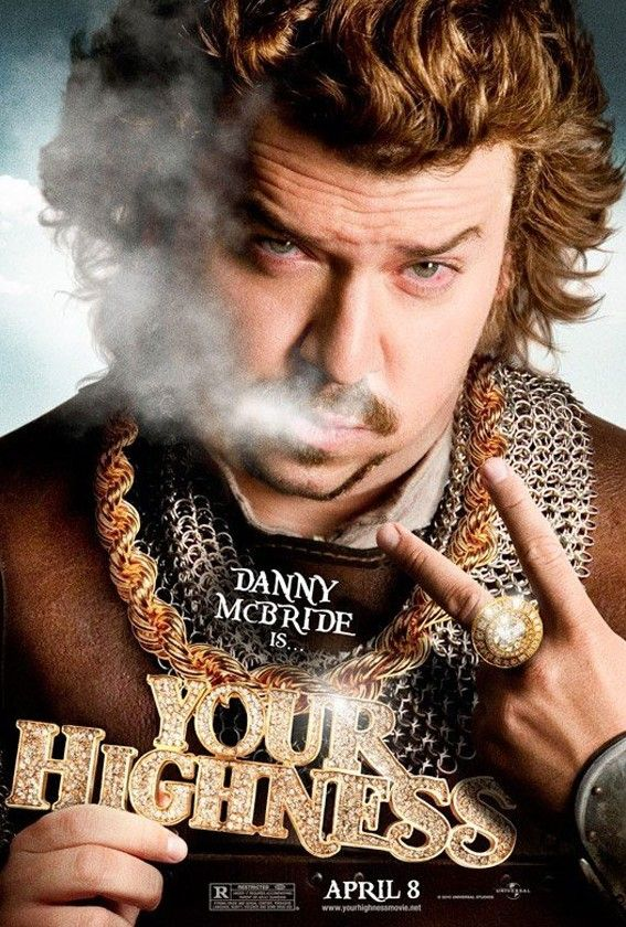 your highness danny mcbride movie poster e1300465695988 Movie Poster Roundup: Thor, Pirates of the Caribbean 4, Your Highness & More